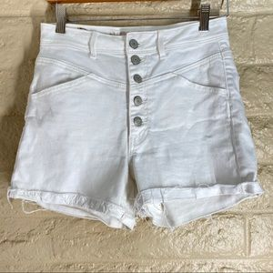 American Eagle Hi Rise Stretch Shorts Button Fly 8